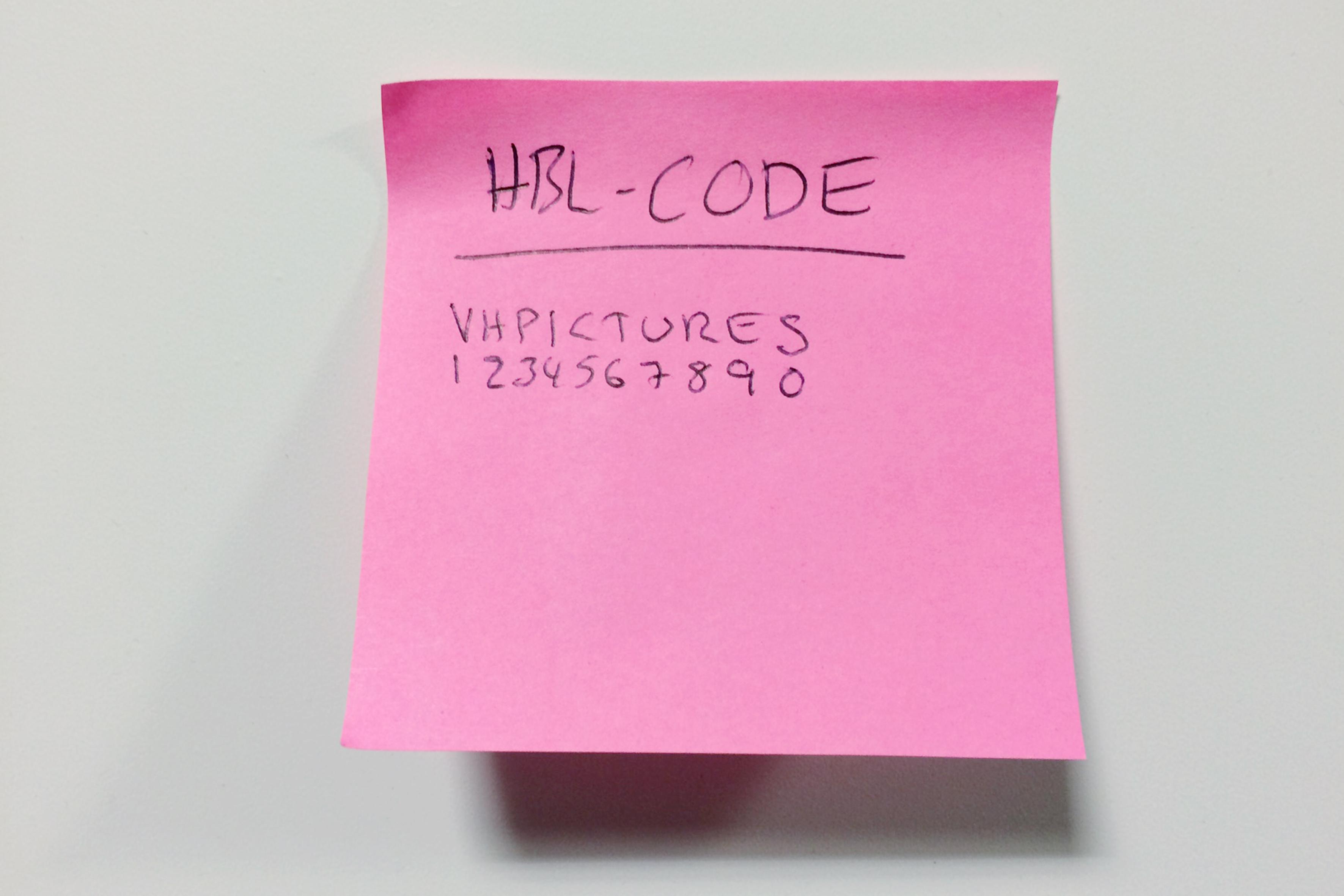 HBL-code. Så här såg den inte ut från början, men min kodnyckel gör det.