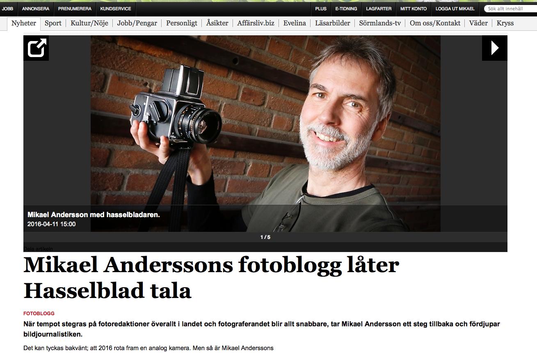 Skärmdump från ekuriren.se