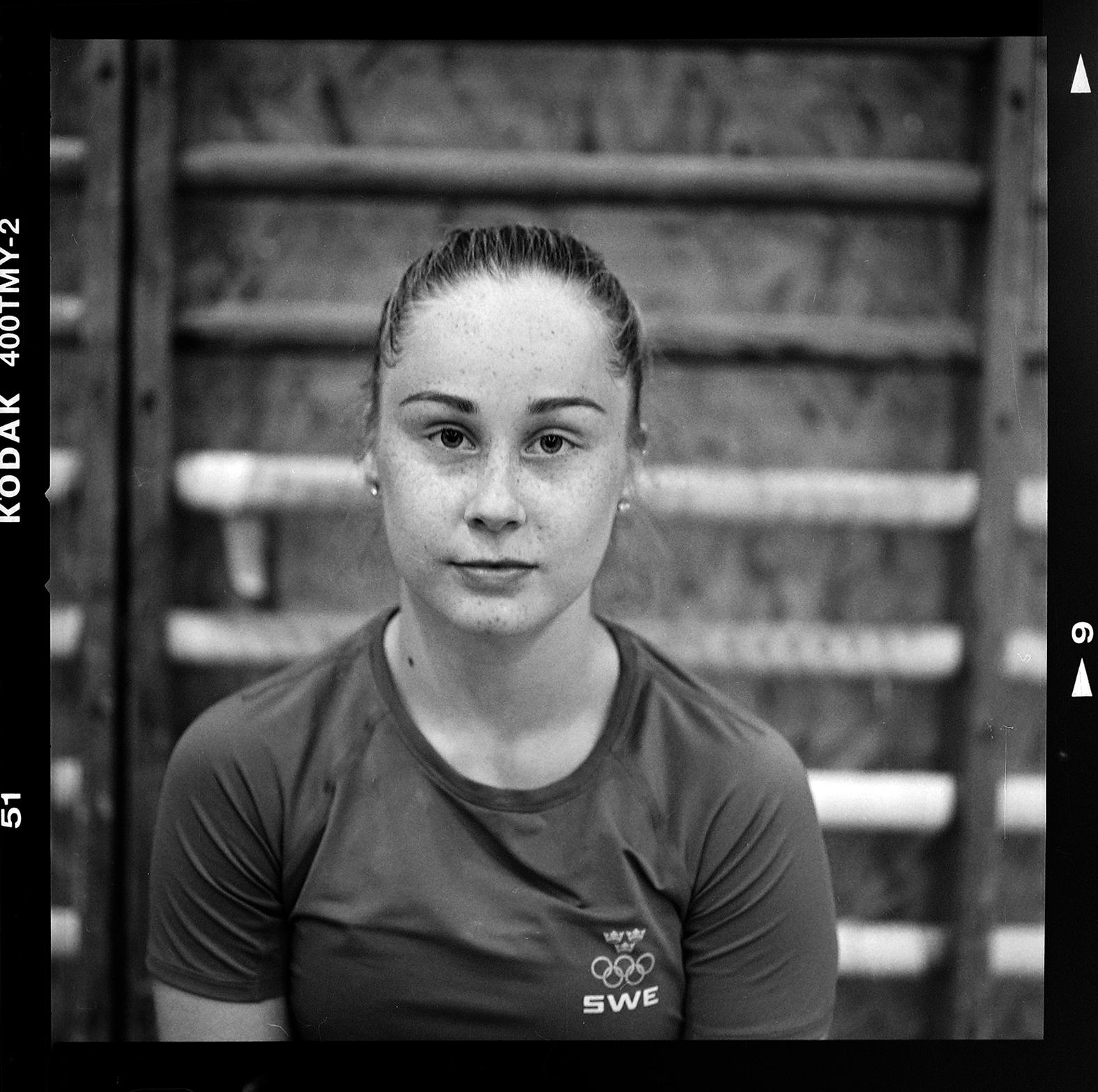 Olympiagymnasten Emma Larsson