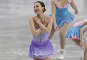 Mao Asada, Japan, vann VM på hemmaplan. Foto: TT